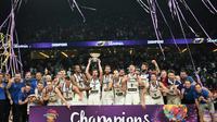 La Slovénie a été sacrée championne d'Europe de basket, le 17 septembre 2017 à Istanbul [OZAN KOSE / AFP]