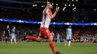 L'attaquant de Monaco Radamel Falcao, auteur d'un doublé face à Manchester City en Ligue des champions à l'Etihad Stadium, le 21 février 2017 [Oli SCARFF                           / AFP]