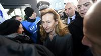 La ministre de la Justice Nicole Belloubet arrive à la prison de Vendin-le-Vieil, le 16 janvier 2018 [FRANCOIS LO PRESTI / AFP]
