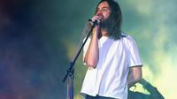 Kevin Parker, leader du groupe australien Tame Impala, en concert au festival américain Coachella en avril 2019.
