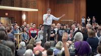Beto O'Rourke lors de son meeting dans l'Iowa