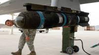 Un missile Hellfire lors d'un entrainement de l'armée américaine.
