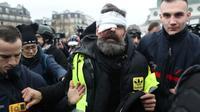 Jérôme Rodrigues, porte-parole des Gilets jaunes à Paris le 26 janvier 2019 [Zakaria ABDELKAFI / AFP]