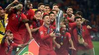Le Portugal vainqueur de la première Ligue des nations après sa victoire sur les Pays-Bas à Porto, le 9 juin 2019  [PATRICIA DE MELO MOREIRA             / AFP]