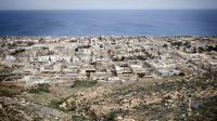 Vue générale de la ville de Derna dans l'est de la Libye, datant du 15 mars 2011, où aurait eu lieu une exécution publique dans un stade selon Amnesty international  [Alessio Romenzi / AFP/Archives]