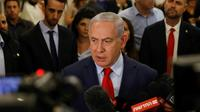 Le Premier ministre Benjamin Netanyahou fait une déclaration aux médias après le vote de la dissolution du parlement israélien, le 29 mai 2019 à Jérusalem [Menahem KAHANA / AFP]