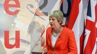 La Première ministre britannique Theresa May, le 20 septembre 2018 à Salzbourg, en Autriche [Christof STACHE / APA/AFP]