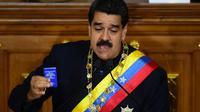 Le président vénézuélien Nicolas Maduro lors de son discours devant l'assemblée consituante à Caracas le 10 août 2017 [RONALDO SCHEMIDT / AFP]