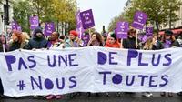 """Manifestation à Paris le 23 novembre 2019 pour dire """"stop"""" aux violences sexistes et sexuelles et aux féminicides [Alain JOCARD / AFP]"""