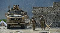 Des soldats américains en patrouille dans la province orientale de Nangarhar, bastion des combattants jihadistes du groupe de l'Etat islamique, le 15 avril 2017 [NOORULLAH SHIRZADA / AFP/Archives]