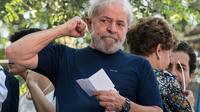 L'ex-président Lula, le 7 avril 2018 à Sao Bernardo do Campo (Etat de Sao Paulo, sud-est du Brésil) [NELSON ALMEIDA / AFP/Archives]