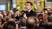 Emmanuel Macron en visite à Dunkerque le 20 janvier 2020. [Denis Charlet / POOL/AFP]