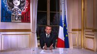 Voeux d'Emmanuel Macron aux Français le 31 décembre 2017 [- / AFP/Archives]