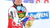 Tessa Worley remporte le géant d'ouverture à Sölden le 27 octobre 2018 [BARBARA GINDL / APA/AFP]