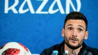 Le captaine et gardien des Bleus Hugo Lloris en conférence de presse à la veille du match contre l'Argentine au Mondial, le 29 juin 2018 à Kazan  [Jewel SAMAD / AFP]