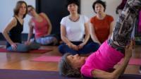 La doyenne mondiale des professeurs de yoga, Tao Porchon-Lynch, 98 ans, le 16 janvier à New York [Don EMMERT / AFP/Archives]