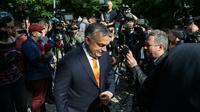 Le Premier ministre hongrois Viktor Orban après avoir voté aux européennes, le 26 mai 2019 à Budapest  [FERENC ISZA / AFP]
