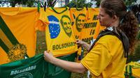 Préparation pour la cérémonie d'investiture du nouveau président Jair Bolsonaro dans les rues de Brasilia, le 31 décembre 2018 [NELSON ALMEIDA / AFP]