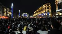Rassemblement de Nuit debout,  Place de la Comédie à Montpellier, le 16 avril 2016 [SYLVAIN THOMAS / AFP]