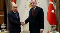 Photo diffusée le 18 avril 2018 par le service de presse de la présidence turque [YASIN BULBUL / TURKISH PRESIDENTIAL PRESS SERVICE/AFP]