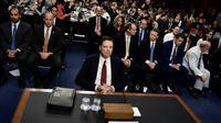 L'ex-directeur du FBI James Comey avant son audition au Sénat américain, le 8 juin 2017 à Washington [Brendan Smialowski / AFP]