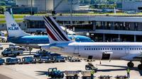 Avions d'Air France et KLM le 7 mai 2018 à l'aéroport de Schiphol à Amterdam, aux Pays-Bas [Robin Utrecht / ANP/AFP/Archives]