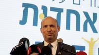 Le ministre israélien de l'Education Naftali Bennett parle à la presse à Ramat Gan, le 15 novembre 2018 [Menahem KAHANA / AFP]