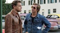 Leonardo DiCaprio et Brad Pitt se donnent pour la première fois la réplique à l'écran.