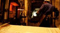 Les forges de Bologne, entreprise métallurgique du groupe Manoir Industries qui produit des pièces pour l'industrie aéronautique, le 03 février 2006 à Bologne, dans la Haute-Marne [Jean-Christophe Verhaegen / AFP/Archives]