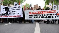 Manifestation à Toulouse le 8 juin 2013 contre le fascisme et en hommage à Clément Méric, un jeune militant d'extrême gauche tué à Paris lors d'une bagarre avec des skinheads FRANCE-CRIME-DEMO [Remy Gabalda / AFP/Archives]