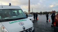 Contrôle anti-pollution le 10 janvier 2017 place de la Concorde à Paris [JACQUES DEMARTHON / AFP/Archives]