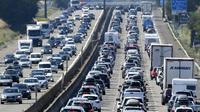 Embouteillages sur l'A7 près de Vienne,  le 4 août 2018 dans le sud-est de la France [PHILIPPE DESMAZES / AFP]