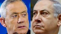 Combinaison de photos du Premier ministre israélien Benjamin Netanyahu (D), le 10 mars 2019 à Jérusalem, et de son principal rival, le général Benny Gantz (G), le 1er avril 2019  [JACK GUEZ, GALI TIBBON / AFP/Archives]