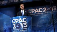 Le républicain Mitt Romney à un rassemblement conservateur, le 15 mars 2013 à National Harbor, dans le Maryland [Alex Wong / Getty Images/AFP/Archives]