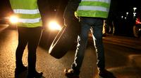 Des «gilets jaunes» manifestent à Reims le 17 novembre 2018 [FRANCOIS NASCIMBENI / AFP]