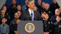 Barack Obama prononce un discours sur le contrôle des armes à feu, le 3 avril 2013 dans une école de police à Denver [Doug Pensinger / Getty Images/AFP]