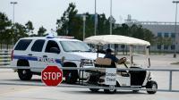 Une voiture de police à l'entrée du campus Cyfair de l'université Lone Star, près de la ville de Houston, le 9 avril 2013 [Scott Halleran / Getty Images/AFP]
