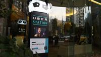 Une station Uber en face d'un hôtel à Chengdu, au sud-ouest de la Chine, le 20 mars 2016 [GREG BAKER / AFP/Archives]