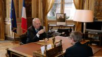 Le ministre français des Affaires étrangères Jean-Marc Ayrault, après sa nomination, à son bureau du Quai d'Orsay, le 12 février 2016 à Paris [PATRICK KOVARIK / POOL/AFP/Archives]
