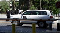 Des enquêteurs de l'ONU, chargés de déterminer la responsabilité d'attaques à l'arme chimique en Syrie, arrivent à Damas, le 18 août 2013 [LOUAI BESHARA / AFP/Archives]