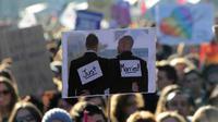 Image d'archive d'une manifestation en faveur du mariage homosexuel à Montpellier le 26 janvier 2013 [Pascal Guyot / AFP/Archives]