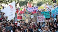 Des personnes manifestent à Paris le 23 septembre 2017 [GEOFFROY VAN DER HASSELT / AFP/Archives]
