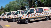 Une flotte d'ambulances spécialisées dans les soins d'urgence, en Afrique du Sud [Rajesh Jantilal / AFP/Archives]
