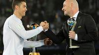 Cristiano Ronaldo à Abou Dhabi le 16 décembre 2017 [KARIM SAHIB / AFP/Archives]