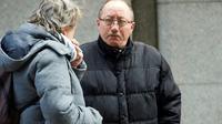 Stephane Devallonne, beau-père de Sophie Lionnet, une jeune fille au pair tuée à Londres, devant un tribunal à Londres le 19 mars 2018 [NIKLAS HALLE'N / AFP]