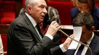 Le ministre de l'Intérieur Gérard Collomb à l'Assemblée nationale, le 11 avril 2018 à Paris [FRANCOIS GUILLOT / AFP/Archives]