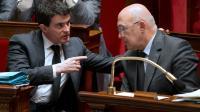 Manuel Valls et Michel Sapin à l'Assemblée nationale le 21 janvier 2014 [JOEL SAGET / AFP/Archives]