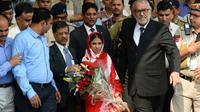 Une jeune femme indienne sourde et muette, Geeta, le 26 octobre 2015 à son arrivée à New Delhi après avoir passé plus de 10 ans au Pakistan [SAJJAD HUSSAIN / AFP]