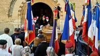 Funérailles du maire de Signes (Var), Jean-Mathieu Michel, le 9 août 2019 [GERARD JULIEN / AFP]