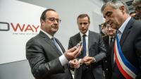 François Hollande visite l'entreprise Prodways aux Mureaux, à l'ouest de Paris le 12 mai 2016 [Christophe Petit Tesson / POOL/AFP]